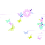 Butterfly twirl baby mobile